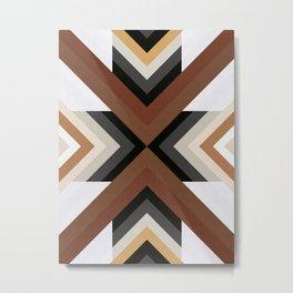 Geometric Art with Bands 05 Metal Print