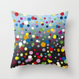 Multi-colored bubbles Throw Pillow