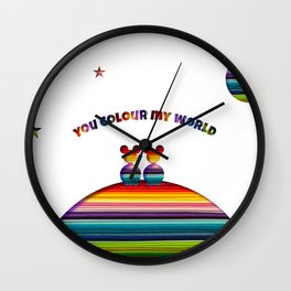 You Colour My World Wall Clock
