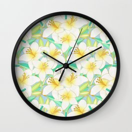 Gilding the Lilies - bright Wall Clock