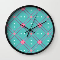 quilt Wall Clocks featuring Quilt by Bunhugger Design