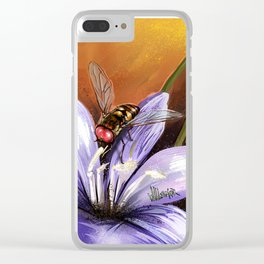 Fly on flower 10 Clear iPhone Case