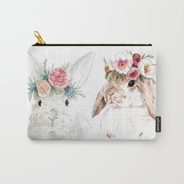 Flower Bunnies Carry-All Pouch