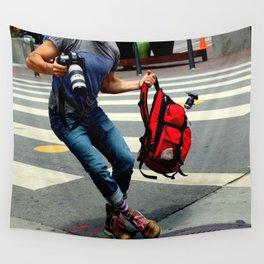 A Travelin' Man Wall Tapestry