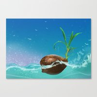coconut wishes Canvas Prints featuring Coconut by Azot