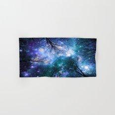 Black Trees Teal Violet Space Hand & Bath Towel