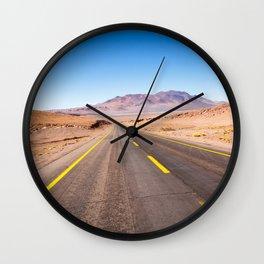 Route 27, Atacama - Chile Wall Clock