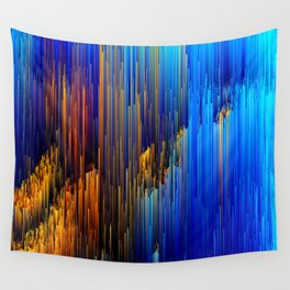 Rise Up - Abstract Pixel Glitch Art Wall Tapestry