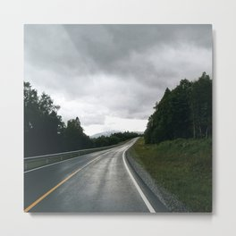 middle of the road in norway Metal Print