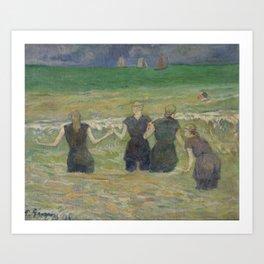 Paul Gauguin - Women Bathing (1885) Art Print