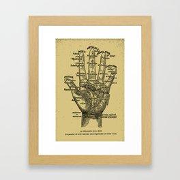 French Palmistry Framed Art Print