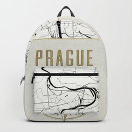 Prague - Vintage Map and Location Backpack