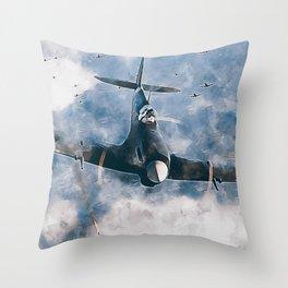 Supermarine Spitfire Throw Pillow