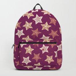 Festive Stars Purple Backpack
