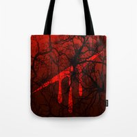 homestuck Tote Bags featuring Hero of Blood by DoodleCrab