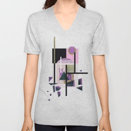 Geometric Metall Unisex V-Neck
