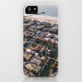 From Above | Venice Canals, Caifornia iPhone Case