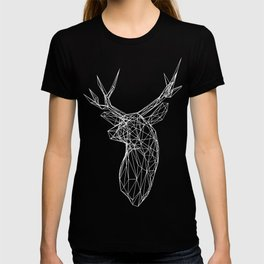 3D Stag Trophey Head Wire Frame T-shirt