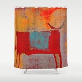 Toro Rojo Shower Curtain