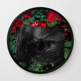 Cat&Rose Wall Clock