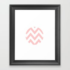 WHITE CIRCLE CHEVRON 2 Framed Art Print