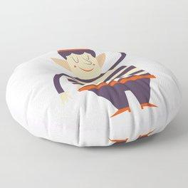 Santa's elf says HI Floor Pillow