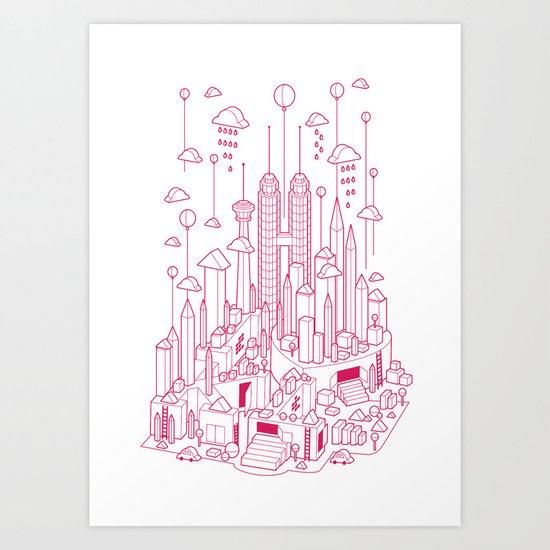 Kuala Lumpur (Red ver.) Art Print