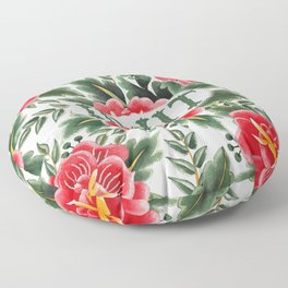 Idjit - Vintage Floral Tattoo Collection Floor Pillow