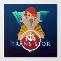 transistor Canvas Prints featuring TRANSISTOR by Duke
