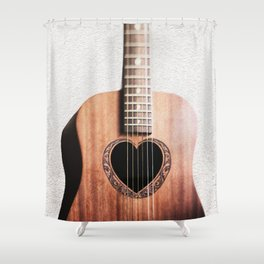 Guitar Heart Shower Curtain