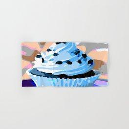 Chocolate Cupcake with Blue Buttercream Hand & Bath Towel