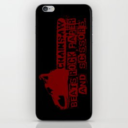 chainsaw wins iPhone Skin
