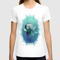dolphins T-shirts featuring Dolphins by Lynne Hoad