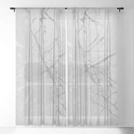 Silver Splatter 089 Sheer Curtain