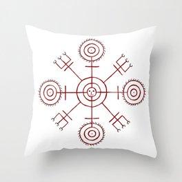 Veiðistafur - For Luck in Fishing Throw Pillow