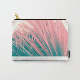 Pastel Palms into Triangle Carry-All Pouch