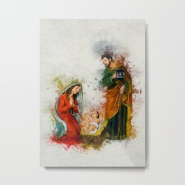 Jesus Is Born Metal Print
