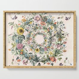 Circle of life- floral Serving Tray