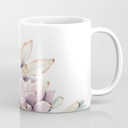 Pristine Succulents Blue and Pink Coffee Mug
