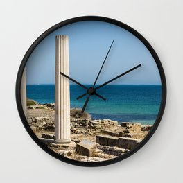 ruined temple in Sicily Wall Clock