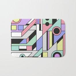 De Stijl Abstract Geometric Artwork 2 Bath Mat