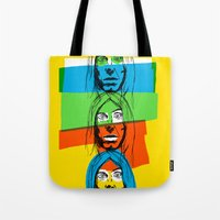 iggy Tote Bags featuring Iggy by Mohac