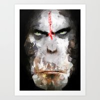 ape Art Prints featuring Ape by Vadim Cherniy