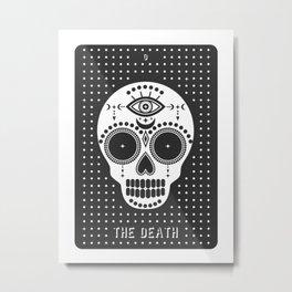 Minimal Tarot Deck The Death Metal Print