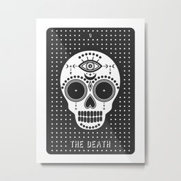 Minimal Tarot Deck The Death Metal Print