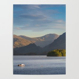 Lake Derwentwater in the Lake District, England Poster