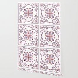 Christmas Portuguese Folk Pattern – Viana do Castelo embroidery Wallpaper
