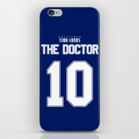 david tennant iPhone & iPod Skins featuring Team Tennant by trekvix