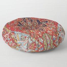 Heriz  Antique Persian Rug Print Floor Pillow