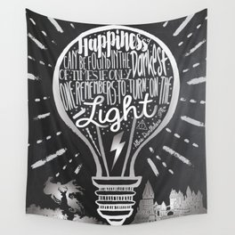 Happiness Can Be Found in the Darkest of Times Wall Tapestry